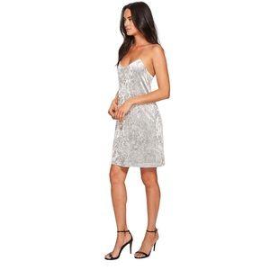 CECE Grey Crushed Velvet Tank Dress